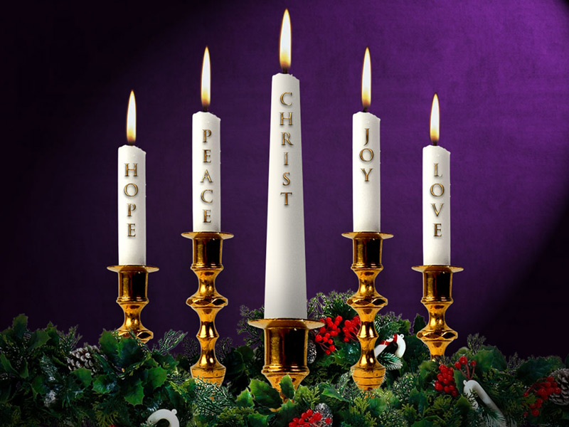 "The Christ Candle – Christmas eve<br />The Light has Come – ""Arise , Shine for your Light has come, and the glory of the Lord rises upon you"" (Isaiah 60:1)<br />"